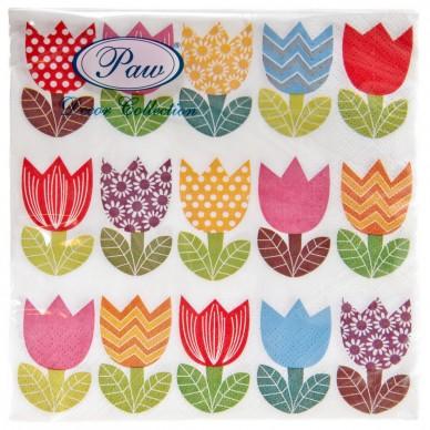 Serwetka papierowa Tulipany Paw SDL087400