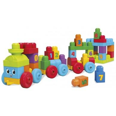 Pociąg edukacyjny 1-2-3 Mega Bloks DKX60