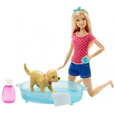 Lalka Barbie kąpiel pieska DGY83 Mattel