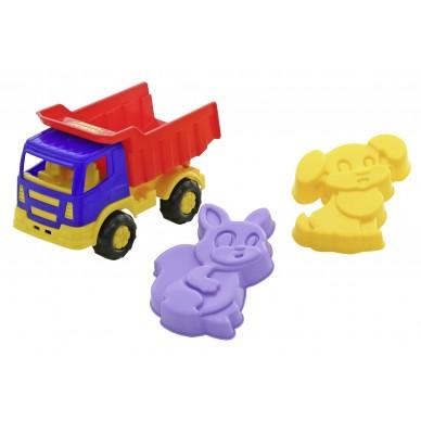 Auto ciężarowe z foremkami 3 el Wader 9028 mix
