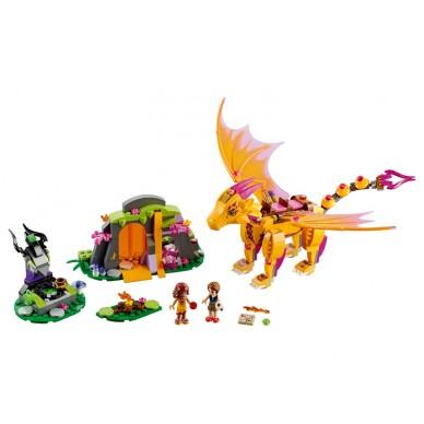Klocki Lego Elves Jaskinia Smoka Ognia 41175