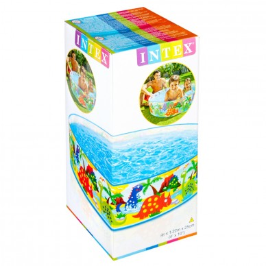 Basen rozporowy dla dzieci 122 x 25 cm Intex 58474 mix