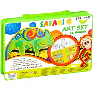 Zestaw artystyczny 68 el Safari Starpak