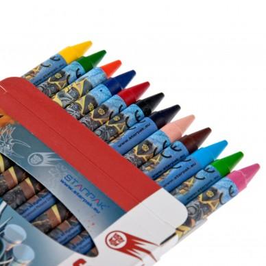Kredki woskowe 12 kolorów Transformers K12KOLTRSP Starpak