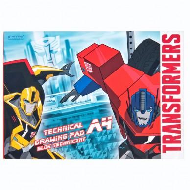 Blok techniczny A4 biały 20 kartek Transformers Starpak