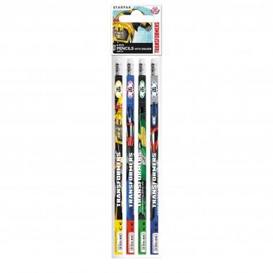 Ołówek z gumką 4 szt. Starpak