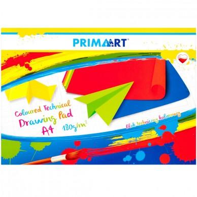 Blok techniczny kolorowy A4 10 kartek Prima Art