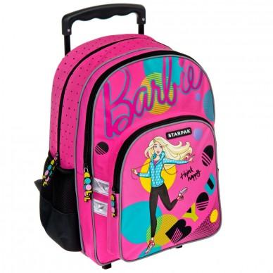 Plecak szkolny na kółkach Barbie Starpak