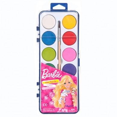Farby akwarelowe 12 kolorów Barbie Starpak