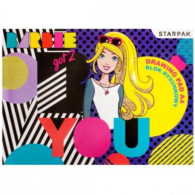 Blok rysunkowy A4 biały Barbie Starpak