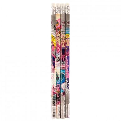 Ołówek z gumką 4 szt. Barbie Tajne Agentki Starpak
