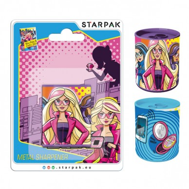 Temperówka metalowa Barbie Tajne Agentki Starpak