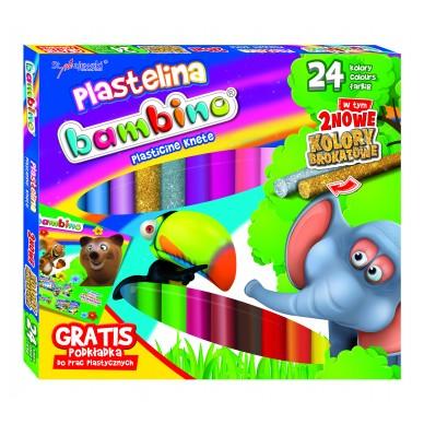 Plastelina 24 kolory Bambino St. Majewski