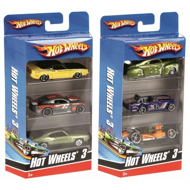 Trzypak Hot Wheels K5904 Mattel