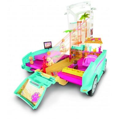 Wakacyjny pojazd piesków Barbie DLY33