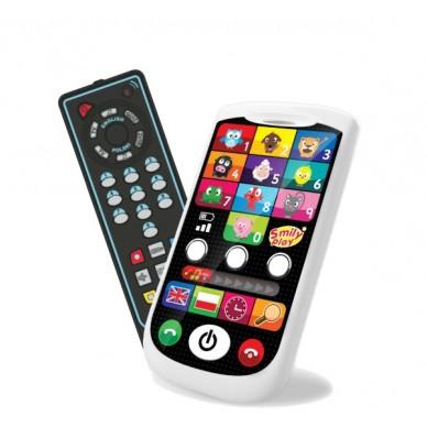 Dwujęzyczny smartfon i pilot TV Smily Play S13930
