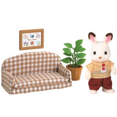 Zestaw z tatą królików na kanapie 2201 Sylvanian Families