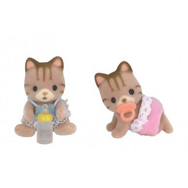 Figurka z akcesoriami bliźniaki pręgowatych kotków 5188 Sylvanian Families