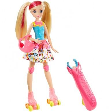 Lalka Barbie na wrotkach z filmu Barbie w świecie gier DTW17