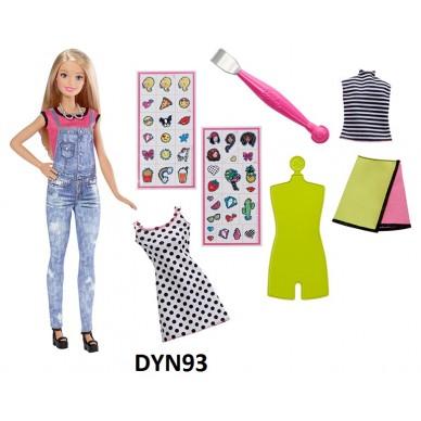 Barbie Zrób to sama: Modne naklejki DYN92