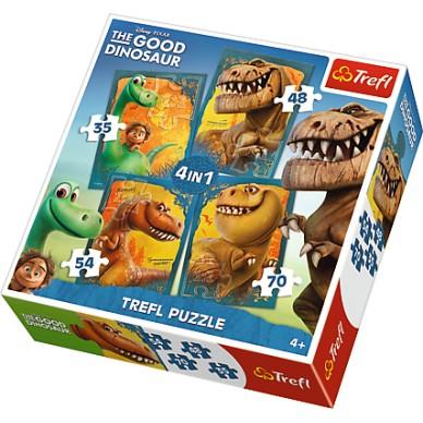 Puzzle 4w1 Dobry Dinozaur 34250 Trefl