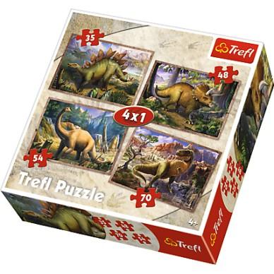Puzzle 4w1 Dinozaury 34249 Trefl