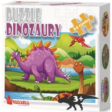 Puzzle Dinozaury 24 el. Russell PZ24-2