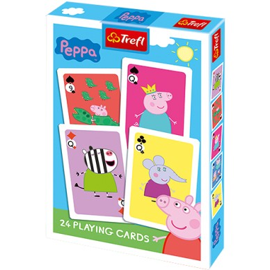 Karty do gry Świnka Peppa 24 karty 08621 Trefl