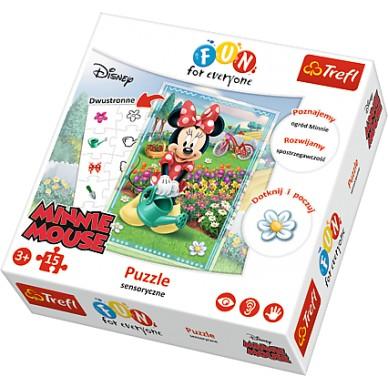 Puzzle sensoryczne 15 el Myszka Minnie 24008 Trefl