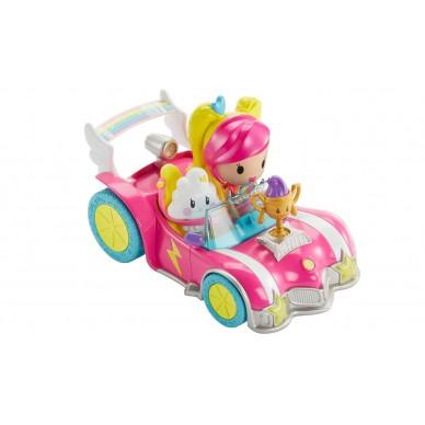Pojazd + Minifigurki z filmu Barbie w świecie gier DTW18 Mattel