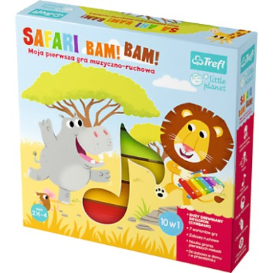 Gra Safari Bam! Bam! Little Planet 01383 Trefl