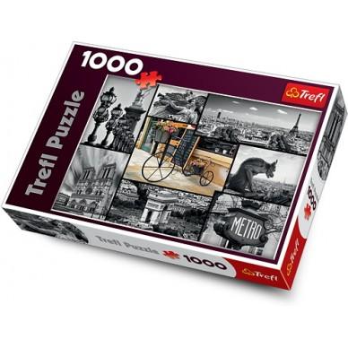 Puzzle 1000 el Paryż Kolaż 10279 Trefl