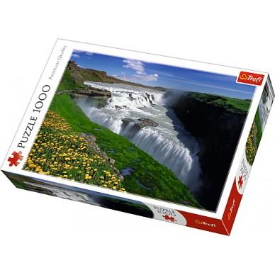 Puzzle 1000 el Złote Wodospady Islandia 10314 Trefl