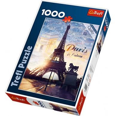 Puzzle 1000 el Paryż o świcie 10394 Trefl