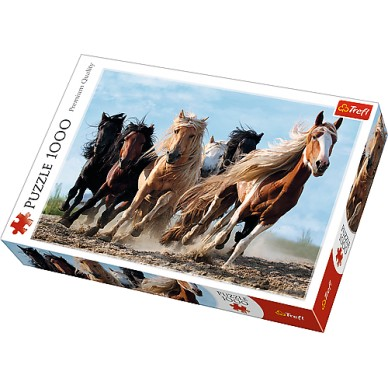 Puzzle 1000 el Galopujące konie 10446 Trefl