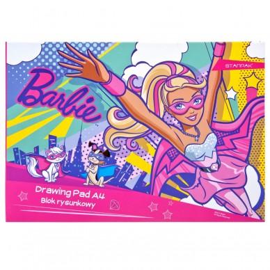 Blok rysunkowy biały A4 Barbie Power Starpak