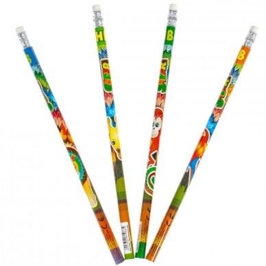 Zestaw ołówków z gumką 4 szt. Safari SAFO PBH Starpak
