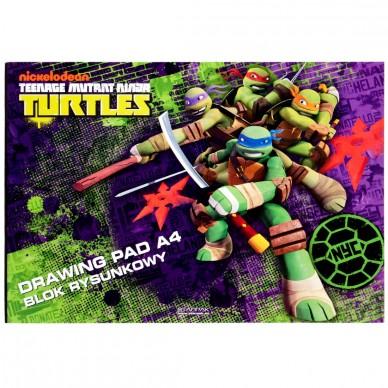 Blok rysunkowy biały A4 Wojownicze Żółwie Ninja Starpak