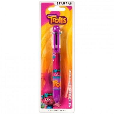 Wielokolorowy długopis Trolls Starpak