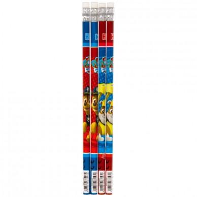 Ołówek z gumką 4 szt. Psi Patrol Starpak