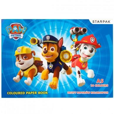 Zeszyt papierów kolorowych Psi Patrol Starpak
