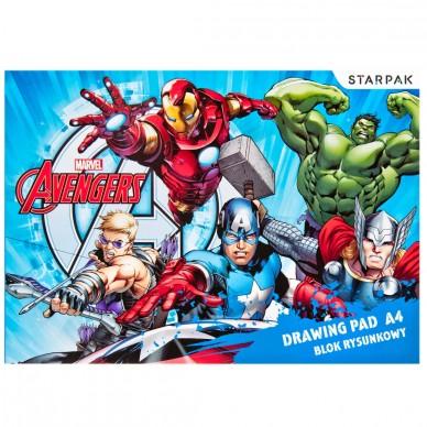 Blok rysunkowy biały 20 kartek Avengers A4 AVG RYS Starpak