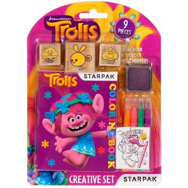 Zestaw kreatywny do kolorowania Trolls Starpak 382502