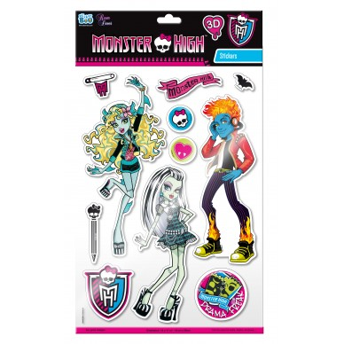 Dekoracja ścienna Monster High 3D