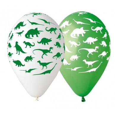 Balon dekoracyjny dinozaury 5 szt. GS110/P154 Godan