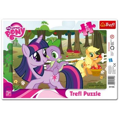Puzzle ramkowe My Little Pony w sadzie 15el 31155 Trefl