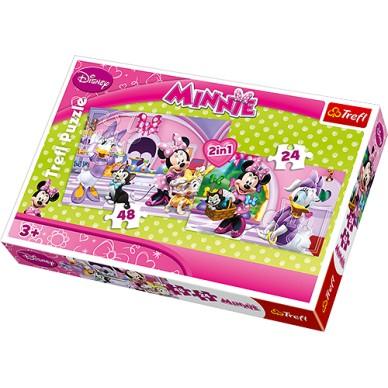 Puzzle 2w1 Minnie na zakupach 34166 Myszka Minnie Trefl