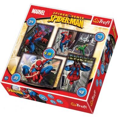 -PUZZLE 4W1 SPIDER-MAN TREFL 34120 PUD