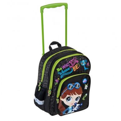 Plecak szkolny na kółkach Littlest Pet Shop Starpak