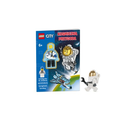 Książeczka Lego City z mini figurką Kosmiczna Przygoda LMJ-9 Ameet